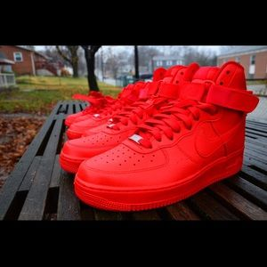 Other - Red Nike Air Force One