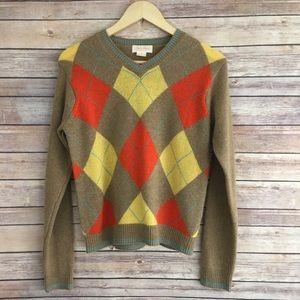 Brooks Brothers 100% Lambswool Argyle Sweater