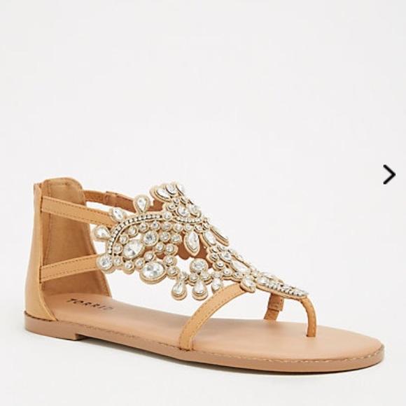 c6645a0faf3b 10 12🆕 Wide Width Crystal Jeweled T Strap Sandals