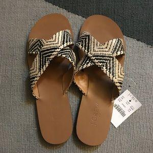 J. Crew Raffia Seaside Sandals