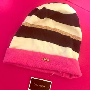 Juicy Couture Striped Beanie. Brand New