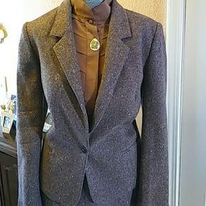 Vintage tweed skirt suit set