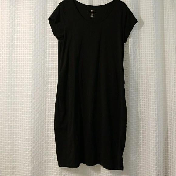 670a89eefcfe6 H&M Dresses | Hm Mama Maternity Black Jersey Dress | Poshmark
