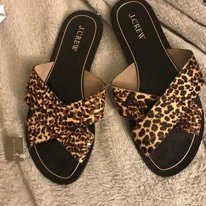 J Crew horsehair sandals