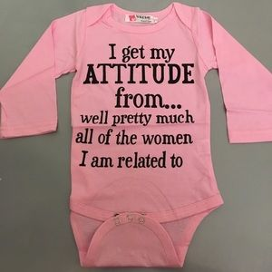 Other - NEW baby girl long sleeve pink Bodysuit Onesie
