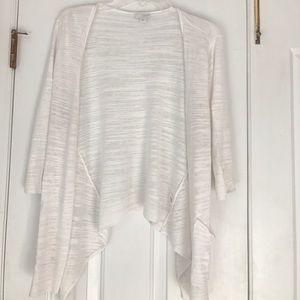 J. Jill Pure Jill white cardigan sweater