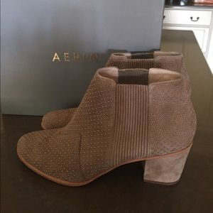 Aerin Suede Studded Ankle Boots