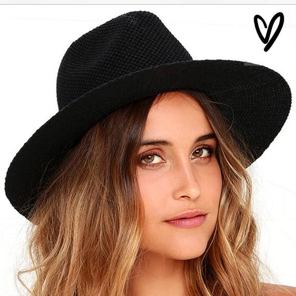 aa826413eb6 Lulu s black fedora hat