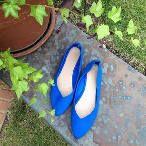 Old Navy Royal Blue Pointy Toe Flats