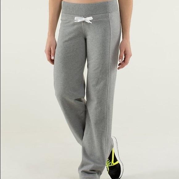 20951e7c24 lululemon athletica Pants | Lululemon Calm Cozy Gray Sweat | Poshmark