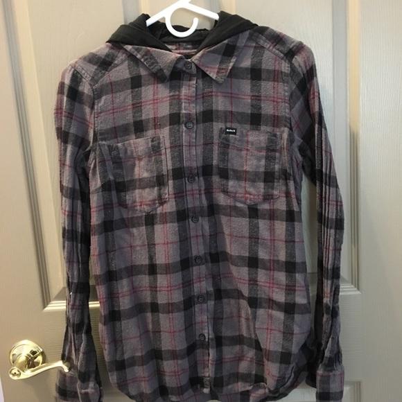Hurley Tops - Hurley Hooded Flannel