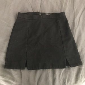 Black Tweed Topshop Skirt. Size 6