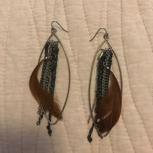 Jewelry - Feather Chain Earrings