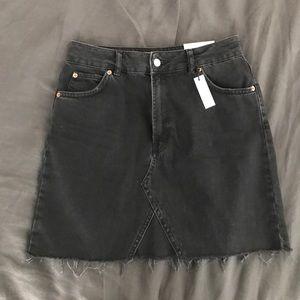 Black Denim Topshop Tall Skirt. 10. Fits size 28