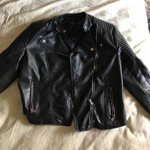 outerwear leather jacket