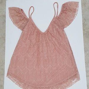 LA Hearts Lace Shirt