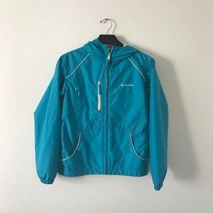 Girls Columbia rain jacket blue