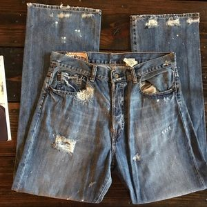 Abercrombie Men's destroyed jeans