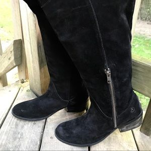 c876e68c6bf Bronx Shoes - Thigh High Suede Bronx Boots