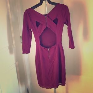 Alice+Olivia purple dress