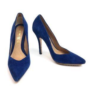 L.A.M.B. • Royal Blue Suede Pumps