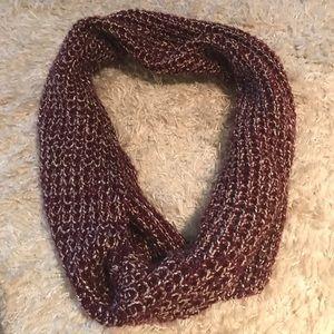 Burgundy and silver sparkler express scarf
