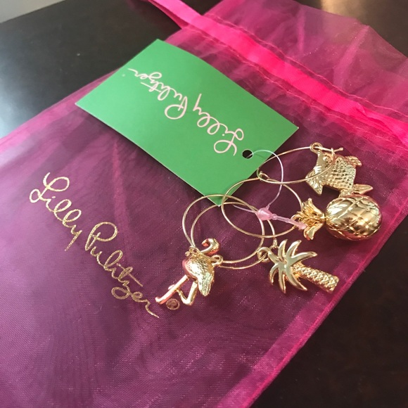 6e1148dd028517 Lilly Pulitzer Accessories | Set Of 4 Wine Glass Charms | Poshmark