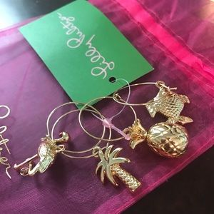 9c49b22496f895 Lilly Pulitzer Accessories - Set of 4 Lilly Pulitzer wine glass charms