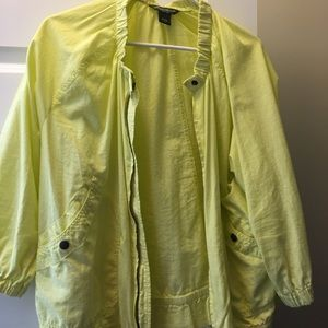 Bright yellow jacket, Eddie Bauer, large
