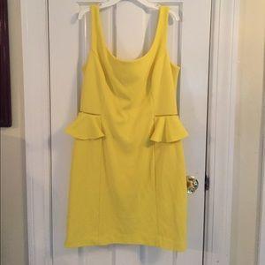 Betsey Johnson yellow cocktail dress