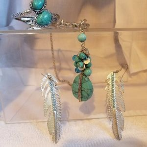 Jewelry - Bohemian turquoise inspired combo
