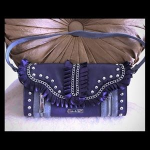 Nicole Lee purple wallet purse clutch