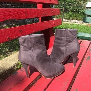 H&M heeled booties gray
