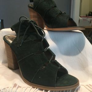 Diba Suede Lace Up, NWT, Olive Green