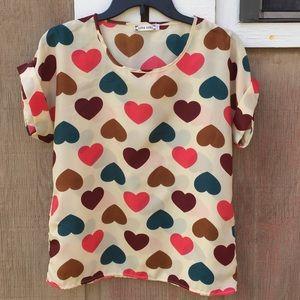 Liva Girl Heart patterned blouse