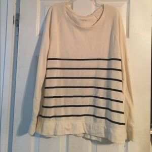 Creme and black striped Merona sweater
