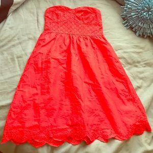 Red sun dress