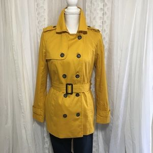 Forever 21 yellow trench coat size S/M