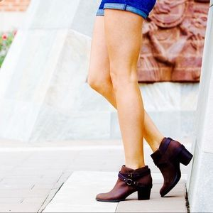 Cognac Harness Ankle Boot