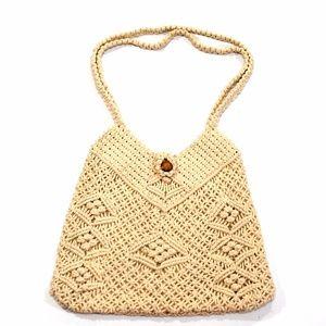 Vintage 70s Woven Handbag