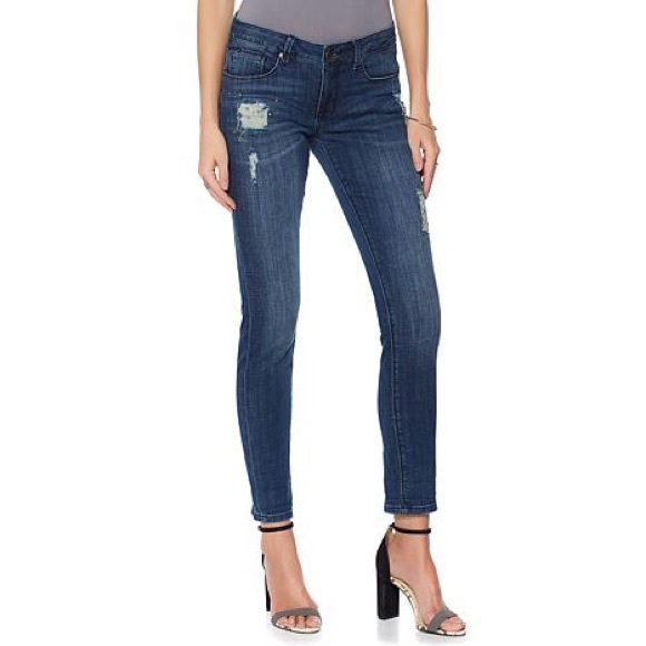 By Giuliana Denim - NWT By Giuliani studded distressed slim jeans