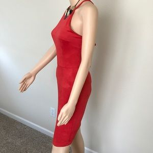 Dresses - Red suede dress Small
