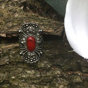 Jewelry - ⚜️Antique Red Jasper Fashion Ring⚜️