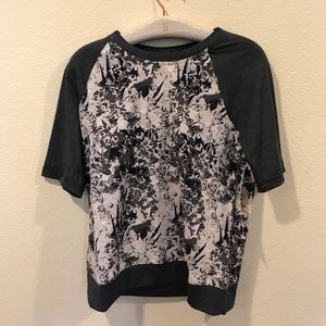 Lole Tops - NWT Lolë Zaida top charcoal gray flowers