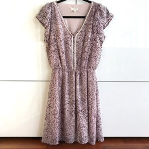 🆕 NWOT Maison Jules Lavender & Plum Print Dress