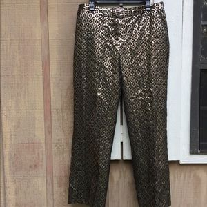 Star Style metallic patterned trouser