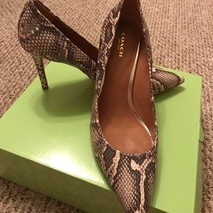 "NWOT COACH 4"" HEELS...FIRM PRICE!"