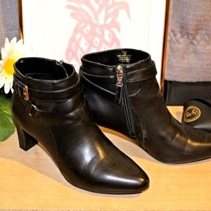 Black Heeled Boots with Buckle