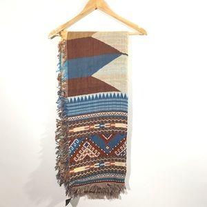 ZARA blanket scarf Ethnic print D20