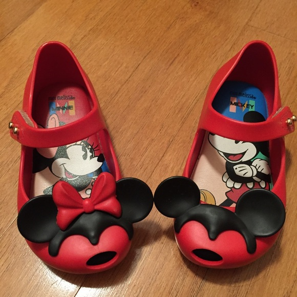 1bac06eb2 Mini Melissa Shoes | Ultragirl Disney Twins Ii Red Sz 6 | Poshmark